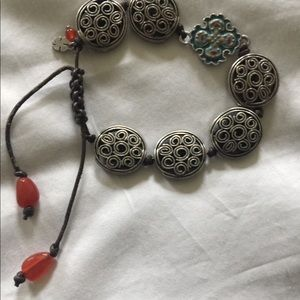 Silver plated friendship bracelet
